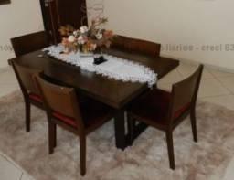 Título do anúncio: Jogo de mesa de jantar com 6 cadeiras