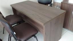 Mesa para escritório , em MDF 36 mm cor Castanho