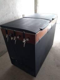 Choperia freezer elétrica com 3 torneiras