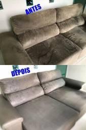 Título do anúncio: limpeza a seco higienização de estofados sofa cadeira colchao tapetes