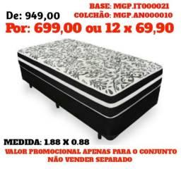 Saldão Londrina -Conjunto Box Mola Ensacada Anjos de Solteiro- Compra de Confiança