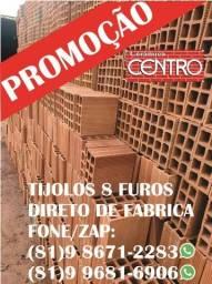 Título do anúncio: Promoção! Carrada de Tijolos 8 furos da fabrica, areia e brita, menor preços