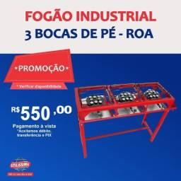 Título do anúncio: Fogão industrial 3 bocas de pé