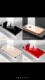 Capa De Proteção Em Vidro Para Iphone X, Xs Max, Xr, 6, 7, 8 Plus
