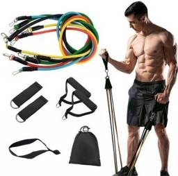 Elásticos de exercício , Kit de elásticos academia