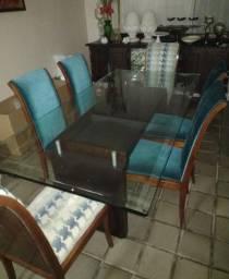 Título do anúncio: Mesa vidro cadeiras