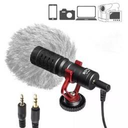 Microfone Boya BY-MM1 cardioide preto