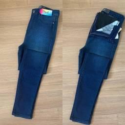 Calça jeans com cinta modeladora