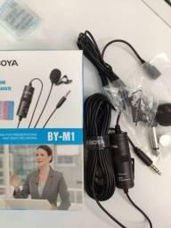 Microfone De Lapela Boya By-m1 Para Celular Câmera