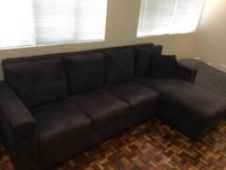 Sofá quatro lugares com chaise