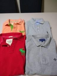 Lote de 4 camisas pólos originais (todas tamanho S/P)