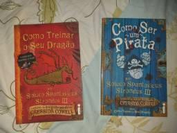 Kit 5 livros Como treinar o seu dragão