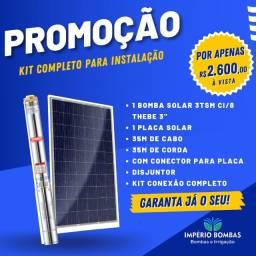 Título do anúncio: Kit Bomba Solar pra 30 metros, Bomba Thebe imã Permanente