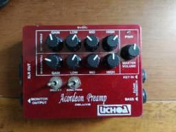 Pedal Pre amp para acordeon