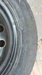 Título do anúncio: Pneu aro 16 com roda de ferro