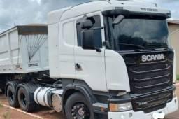 Scania R440 6x4 com carreta bicaçamba e contrato de serviço