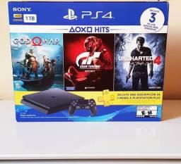 Playstation 4 1TB LACRADO + 3 jogos +3 meses de psn