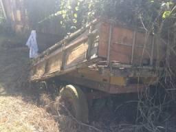 Carreta de madeira 2 rodas