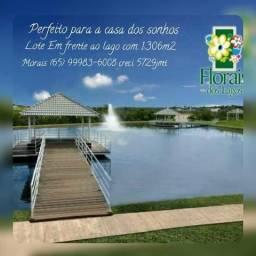 Terreno 1306mts condomínio florais dos lagos frente para o lago