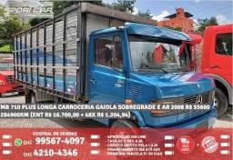 Mb 710 plus longa carroceria gaiola sobregrade e ar 2008 R$55.660 284990km - 2008