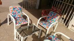 Vendo conjunto de cadeiras tubular e poltronas