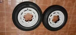 Rodas de fusca aberta 15 com pneus zeros