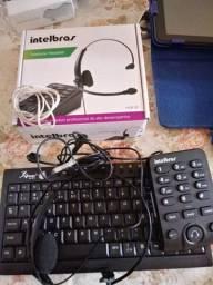 Aparelhos telefone da Intelbrás, 2 unidades em bom estado e funcionando bem