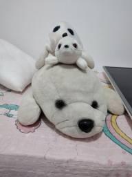 Combo urso de pelúcia- focas
