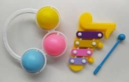 Chocalho E Xilofone Infantil Para Bebê Instrumento Musical