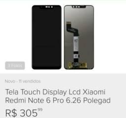 Tela display xaomi not 6 pro