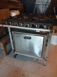 Fogão industrial metalmaq 4 bocas com forno
