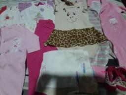Lote roupas menina 0 a 12 meses