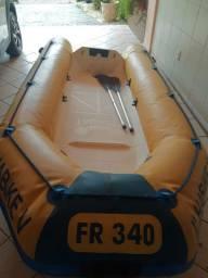 Bote Flexboat 340 + Mercury Super 15 + Carreta Licenciada - Conjunto pronto para navegar