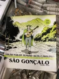 Corda pra violão de nylon São Gonçalo tensão alta c/ bolinha