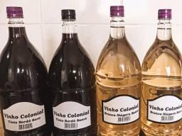 Vinhos artesanais direto de SC temos seco e suave Branco e tinto