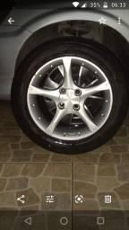 Jogo de roda aro 15 pneu 195 55 R15 telefone *74