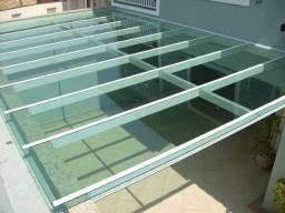 Cobertura em vidro temperado