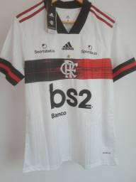 Camisa oficial Flamengo branca 20/21