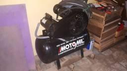 Compressor Motomil 10 pés, 100 litros, 2 HP, 140 LBS, Monofásico