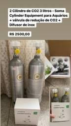 Título do anúncio: Oportunidade: cilindro de CO2 + válvula de redução + difusor de inox