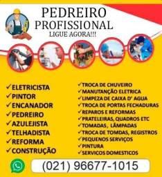Pedreiro profissional - Melhor preço do Mercado
