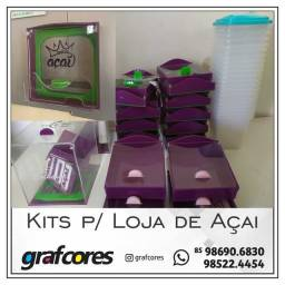 Título do anúncio: kits para loja de açaí// servisos gráficos