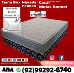 Título do anúncio: Cama Box Molas+2 travesseiros
