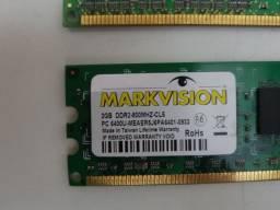 Título do anúncio: Memória RAM ddr2 4gb