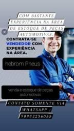 Título do anúncio: Precisa de vendedor / estoquista de peças automotivas