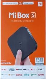 Título do anúncio: Mi Box s da Xiaomi Novo Lacrado Disponível.