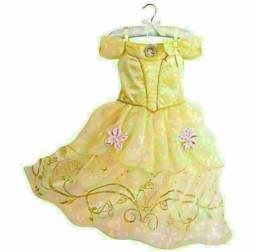 Título do anúncio: Vestido fantasia infantil bela Elsa Frozen Ariel cinderela luxo entrega gratuita