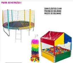 Título do anúncio: Kit Promocional Cama Elástica 2.44 MT + Piscina de Bolinhas 1.10 MT c/ 500 Bolinhas