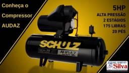 Título do anúncio: Compressor de ar 20 pés 200L 175Lbs 12Bar 5CV Tri 220/380V Schulz