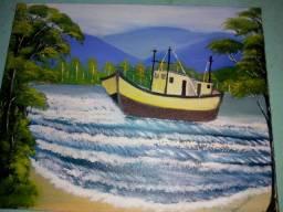 Quadro pintura a óleo 35,00 reais